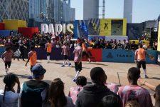 Un tournoi de«streetfootball» sous l'Arche