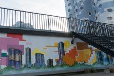 Une fresque pour représenter le quartier